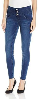 YMI Jeanswear Wome's Waabettashape Triple Butto High Rise Skiy