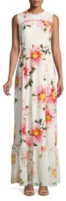 Floral Sleeveless Maxi Dress
