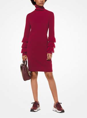 Michael Kors Wool-Blend Turtleneck Dress