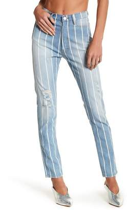 IRO Pinstripe Distressed Jean