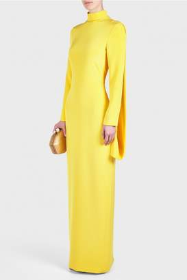 Christian Siriano Back Draped Gown