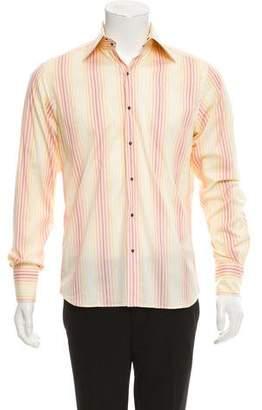 Thierry Mugler Striped Dress Shirt
