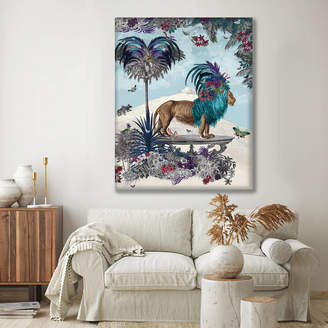 FabFunky Home Decor Lion On Table Mountain, Limited Edition Fine Art Print