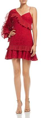 Keepsake Timeless Lace Ruffle Sleeve Dress