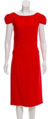 Antonio Berardi Short Sleeve Midi Dress Red Short Sleeve Midi Dress