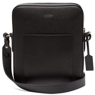 Smythson - Panama Reporter Leather Cross Body Bag - Mens - Black