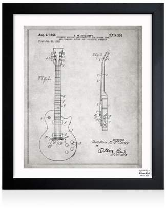 "Oliver Gal Gibson Les Paul Guitar Wall Art, 10"" x 12"""