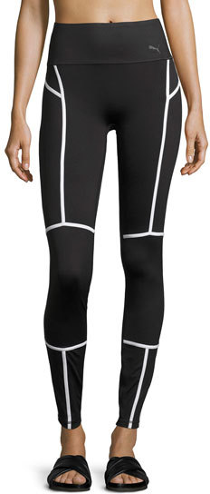 Puma PUMA PWRSHAPE High-Waist Performance Tights, Black/White