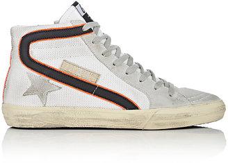 Golden Goose Women's Women's Slide Suede & Mesh Sneakers $495 thestylecure.com