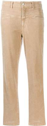 Closed cropped straight leg jeans