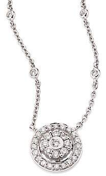 Hueb Women's Flower Diamond & 18K White Gold Pendant Necklace