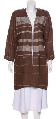 Gianni Versace Linen Open Front Coat