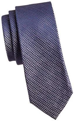 Calvin Klein Etched Grid Slim Silk Tie