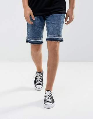 Hoxton Denim Denim Shorts in Washed Blue