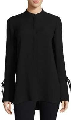 Lafayette 148 New York Desra Bell-Sleeve Silk Blouse