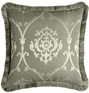 Buy European Le Plaza Damask Sham with Fringe!