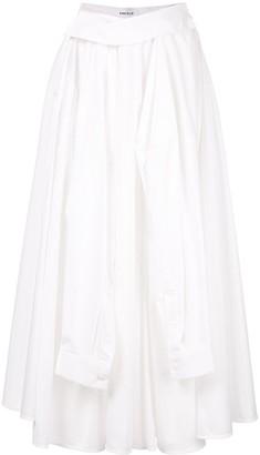 Enfold shooting-sleeve long skirt