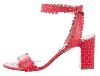 Tabitha Simmons Scalloped Laser Cut Sandals