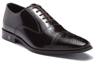 Versace Spazzolato Leather Cap Shoe