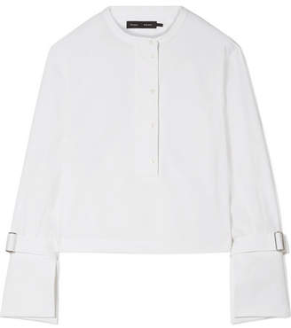 Proenza Schouler Cropped Stretch-cotton Poplin Shirt