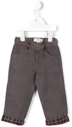 Cashmirino Plaid panel jeans