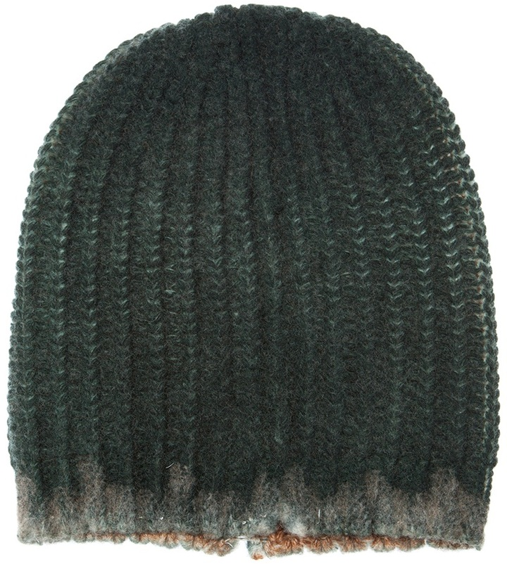 Avant Toi Worn detail beanie hat