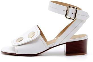 Lou.Earl Fialta Leather Sandals In White