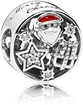 Pandora Christmas Joy Charm - Enamel / Sterling Silver / Red / White