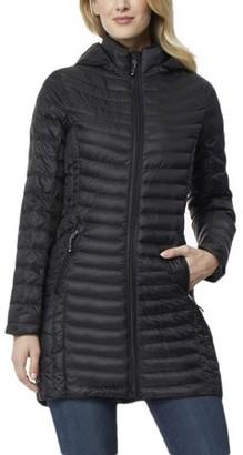 360air 360 Air Women's Silk Nano Long Packable Jacket with Detachable Hood