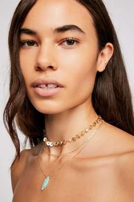 Triple Wrap Stone Necklace