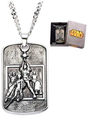 Star Wars Jewelry Poster Relief Stainless Steel Dog Tag Men's Pendant Necklace