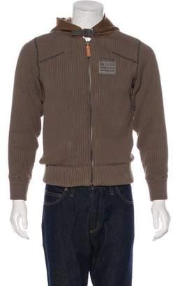 G Star Sherpa-Lined Rib Knit Hoodie