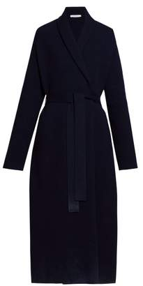 The Row Hera Belted Wool Blend Cardigan - Womens - Navy