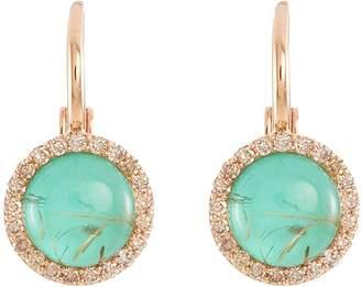 Roberto Coin 'Cocktail' diamond chalcedony 18k rose gold earrings