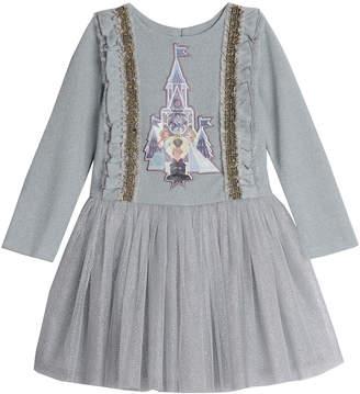 Pippa Disney X & Julie Disney Frozen Frozen Castle Glitter Tutu Dress Size 2-4T