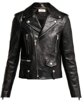 Saint Laurent Leather Jacket - Womens - Black