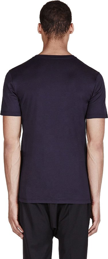 Lanvin Navy Spray Paint L T-Shirt