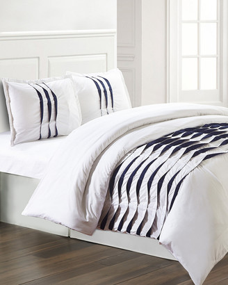 Isabella Collection Colonial Home 3Pc Pinch Pleat Duvet Set