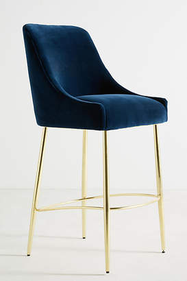 Anthropologie Velvet Elowen Bar Stool