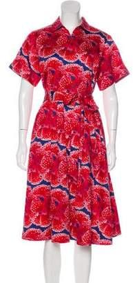 Brooks Brothers Abstract Print Midi Dress