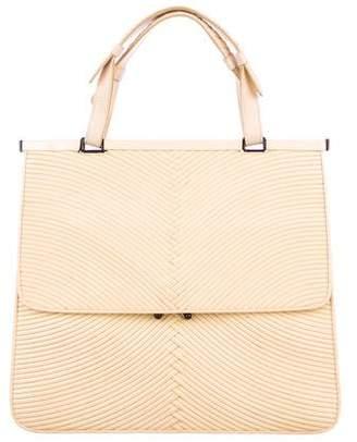 Bottega Veneta Textured Patent Leather Handle Bag