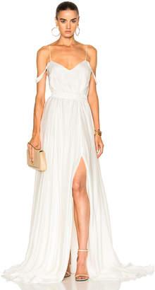 Morgan Houghton V Neck Empire Gown