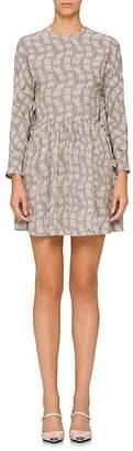 Prada Women's Abstract Silk Crêpe De Chine Dress