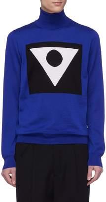 Maison Margiela Glyph intarsia wool turtleneck sweater