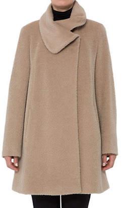 Cinzia Rocca Icons Wool-Blend A-Line Short Coat