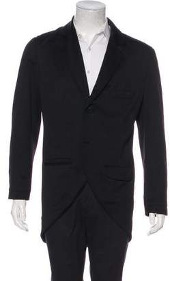 Y-3 Notched-Lapel Overcoat