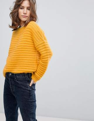 Selected Ribbed Knitted Jumper