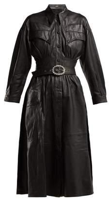 Dodo bar or Dodo Bar Or - Belted Leather Dress - Womens - Black
