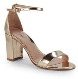 Schutz Leather Ankle Strap Sandals