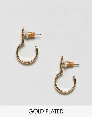 Pilgrim gold plated loop round earrings